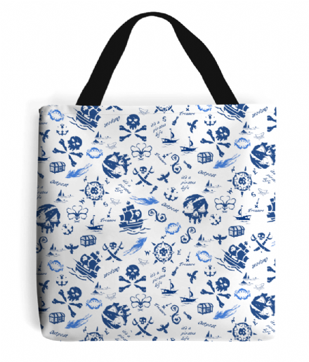 Skulls, Ships, Sharks and Sea of Thieves Tote Bag Gamer Shopping Handbag